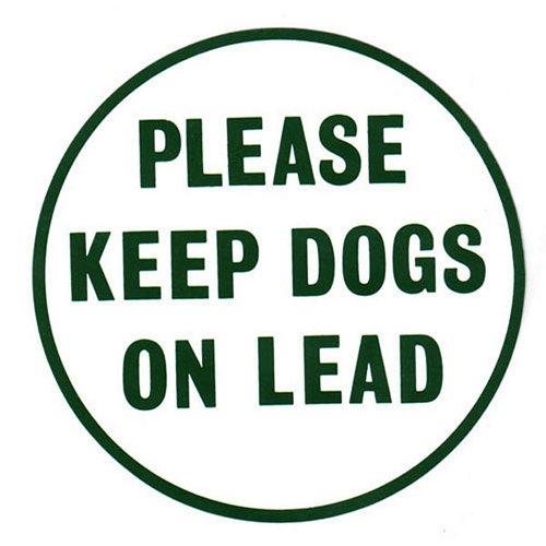 PLEASE KEEP DOGS ON LEAD SIGN